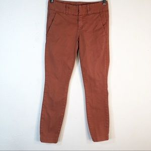 J Crew 00 Andie Chino Pants Skinny Casual Cotton